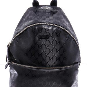 Gucci Navy Coated Canvas GG Imprime Backpack